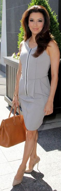 Eva Longoria: Dress – Amanda Wakeley  Purse – Hermes  Shoes – Jimmy Choo