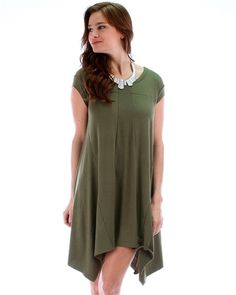 Lost Reverie Oversized T-Shirt Dress: Olive Green-- I absolutely love this!!!!