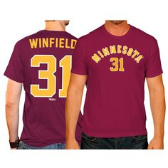 Dave Winfield Minnesota Golden Gophers Original Retro Brand Name & Number T-Shirt - Maroon