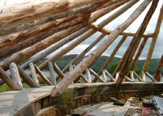 Roundwood structures / houses whole tree architecture
