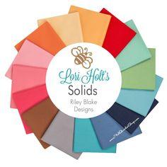 Lori Holt's Solids Fat Quarter Bundle Riley Blake Designs - Riley Blake Fabrics | Fat Quarter Shop