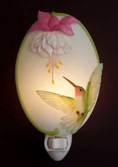 Hummingbird & Fuchsia Night Light