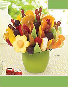 Edible Arrangements.....got one for my birthday. Loved it :)