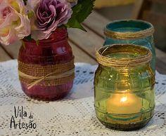 Hoje venho compartilhar dicas para quem quer tingir potes de vidro para usos decorativos. Com truques práticos.