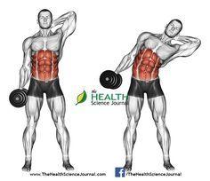 © Sasham Dreamstime.com - Exercising for bodybuilding. Side slopes of standin