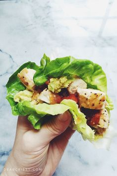 This clean eating lettuce wraps recipe is so fresh, light and easy to make. Not to mention it's very nutritious and great for anyone who loves real food!