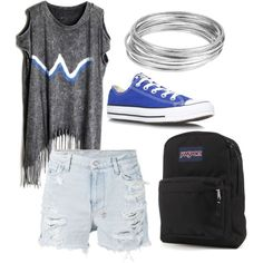 Untitled #20 by aleczia on Polyvore featuring polyvore fashion style Ksubi Converse JanSport Worthington