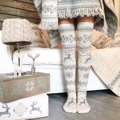 30% OFF Knee High Winter Pattern Knit Thick Wool Socks от Ohaina