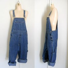 Women Overalls Denim Overall Shorts Short by TheVilleVintage, $49.99