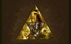 Brown Triforce Wallpaper