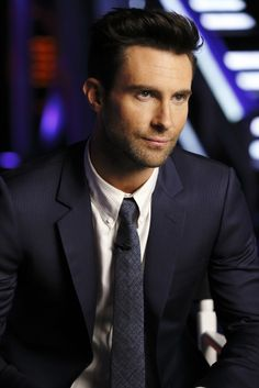 Adam Levine staring into the future … Live Playoffs. Monday. Tuesday. Wednesday at 8.7c!