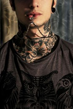 ddf929a753db6 11 Best Neck Tattoos images in 2017 | Ink, Tatted men, Tatoos