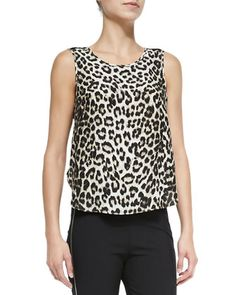 Fleet Sleeveless Leopard-Print Top at CUSP