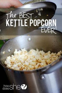 Seriously The BEST homemade Kettle Popcorn EVER!