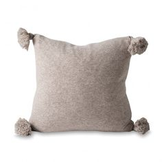Marl Knitted Wool Blend Cushion with Insert by Citta Design | Clickon Furniture