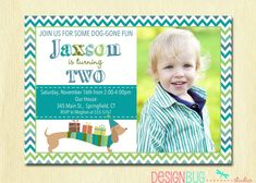 Birthday Boy Dog Invitation