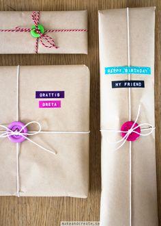 Presentinslagning med knappar - Pysseltips - Make & Create