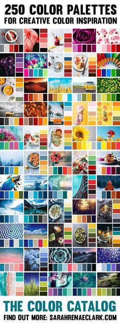 250 color palettes to help you find the perfect color combination for any project! Save The Color Catalog to your mobile or tablet to find a color combination by color, keyword or collection in just a few taps. So many beautiful color schemes to inspire Color Schemes Colour Palettes, Colour Pallette, Color Combos, Best Color Combinations, Creative Colour, Color Psychology, Colour Board, Grafik Design, Color Theory