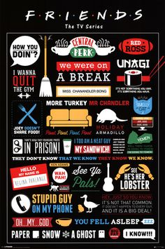 Friends Infographic Poster at AllPosters.com