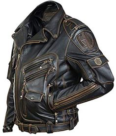 Motorcycle Leather, Biker Leather, Motorcycle Jacket, Leather Coats, Leather Jackets, Vintage Biker, Vintage Leather Jacket, Vintage Men, Mens Spring Coats