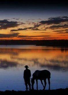 Cowboy & his horse