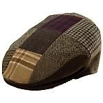 """The Bedlam"" is a patchwork ivy cap from Christys' London. The wool blend cap features a sewn down cushion front and jacquard lining. Item Number: CHF422"