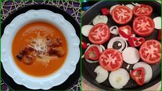 Fırında Közlenmiş Domates Çorbası Cheeseburger Chowder, Panna Cotta, Soup, Pudding, Iftar, Ethnic Recipes, Desserts, Chef Recipes, Cooking