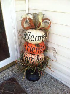 Painted pumpkins !