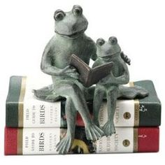 Remember when Dad used to read you a story before bed time...and fall asleep first! Oh, just my Dad? Storytime Frog Shelf Sitters