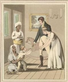 From the Untold Lives BLog post 'Researching Untold Lives' Image: European lady and her family, attended by an ayah. From The costume and customs of modern India (London, c.1824)