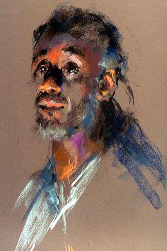 Portrait Drawing Half Light by Nancy Macdonald Pastel ~ 20 x 16 Chalk Pastel Art, Soft Pastel Art, Chalk Pastels, Pastel Drawing, Soft Pastels, Abstract Portrait, Watercolor Portraits, Portrait Art, Portrait Paintings