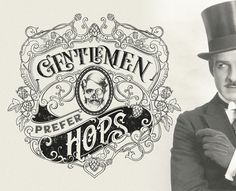 GENTLEMEN PREFER HOPS - t-shirt design on Behance