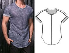 Perfecting Sew A T-shirt for Men Ideas. Immaculate Sew A T-shirt for Men Ideas. T Shirt Sewing Pattern, Mens Sewing Patterns, Sewing Men, Clothing Patterns, Fashion Design Template, Sewing Blouses, Le Polo, Make Your Own Clothes, Diy Barbie Clothes