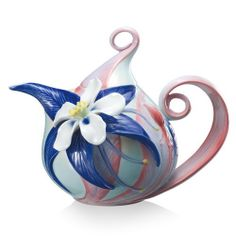 columbine wildflower teapot by Franze Collection