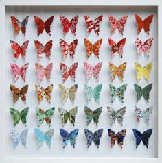 these origami paper butterflies are so sweet