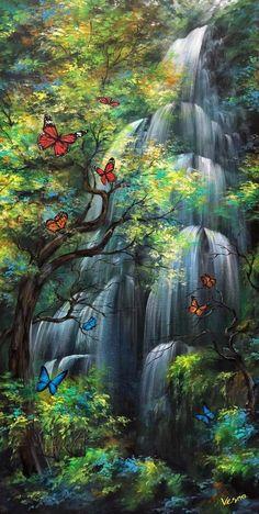 Wallpaper Nature Flowers, Beautiful Landscape Wallpaper, Beautiful Flowers Wallpapers, Beautiful Photos Of Nature, Scenery Wallpaper, Beautiful Landscapes, Waterfall Wallpaper, Beautiful Scenery Pictures, Fantasy Art Landscapes