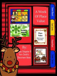 Christmas Activities - Place Value A Week's Worth of Place Value for Christmas for 1.NBT.2, 2.NBT.A.1 and 3.NBT.A.2. A collaborative bundle from HappyEdugator and Fern Smith's Classroom Ideas for your Christmas lessons.