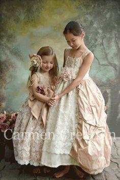 Robe de fille de fleur couture