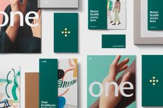 One Medical by Moniker — The Brand Identity ---- modern identity for health/medical company. simple logo, very balanced. friendly, straightforward tone of voice. love the colour scheme and the illustrative elements. Pharmacy Design, Medical Design, Identity Design, Brand Identity, Logo Design, Graphic Design, Medical Logo, Medical Care, Health And Wellness