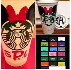 Personalized Starbucks Coffee Cups 16 oz by wildernesswookies