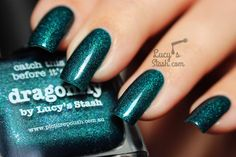 piCture pOlish Dragonfly by Lucy's Stash Nail Polish Brands, Opi Nail Polish, Opi Nails, Crazy Nail Art, Crazy Nails, Green Nail Polish, Picture Polish, Nail Polish Collection, Polish