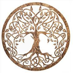 Baum des Lebens aus Holz Lebensbaum Keltik-Kork-Desing  Wand Deko Wohnzimmer Deko   Geschenkidee
