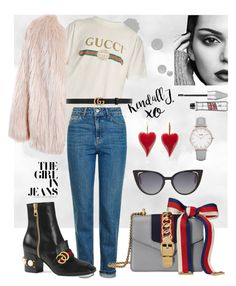 Gucci & Kendall by susen95 on Polyvore featuring polyvore, moda, style, Gucci, Sans Souci, Topshop, CLUSE, Fendi, xO Design, fashion and clothing