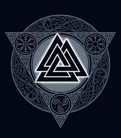 """ VALKNUT. ICE FLAME."" by RAIDHO 