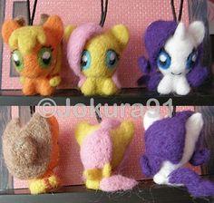 My Little Pony_Needle felted key chains (1) by Jokura91 on deviantART