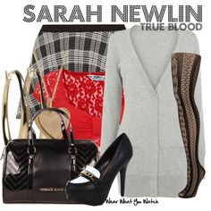 Inspired by Anna Camp as Sarah Newlin on True Blood.