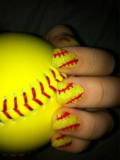 softball nails i have to do this for softball season Softball Nails, Baseball Nails, Softball Stuff, Softball Things, Softball Mom, Softball Quotes, Softball Crafts, Baseball Stuff, Softball Players