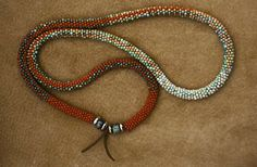 Bead woven necklace by Claire Kahn Jewelry
