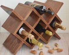 wooden wine rack-rustic wine rack-handmade wood wine rack-wine rack table-wine stand-wine holder-wine gift for him-wine organizer Wine Rack Table, Rustic Wine Racks, Wine Glass Rack, Wine Shelves, Wine Storage, Storage Room, Storage Drawers, Storage Shelves, Kitchen Storage