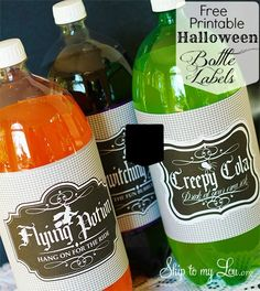 Free Printable Halloween Bottle Lables - Skip To My Lou